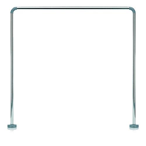 Kela Duschstange für Duschvorhang, U-Form, Aluminium, Silber Glänzend