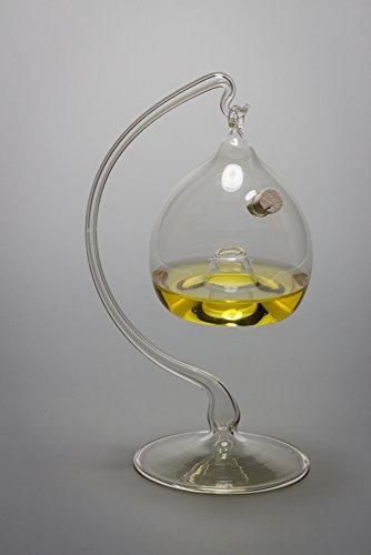 Fliegenfalle Obstfliegenfalle aus Glas mit Glasständer Lauscha mundgeblasen