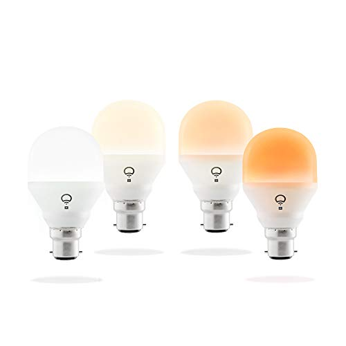 LIFX Mini Day & Dusk (B22) Ampoule smart LED connectable Wi-Fi, ajustable, multicolore, ajustable, pas de hub requis, fonctionne avec Alexa, Apple HomeKit et Google Assistant, Set de 4
