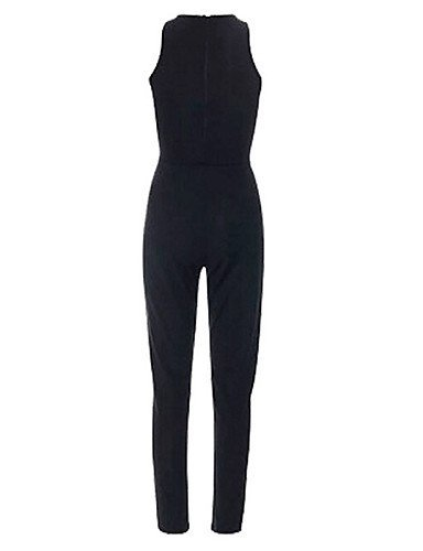 GSP-Combinaisons Aux femmes Sans Manches Sexy / Dentelle Coton Opaque Micro-élastique black-m