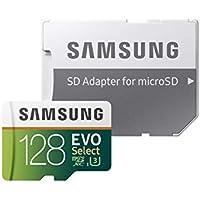 Samsung Memorie MB-ME128GA EVO Select Scheda microSD da 128 GB, UHS-I U3, con Adattatore SD