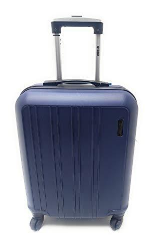 Trolley Ryanair Priority idoneo cm.55x40x20 ABS rigido 4 Ruote Bagaglio a mano Low cost (BLU)