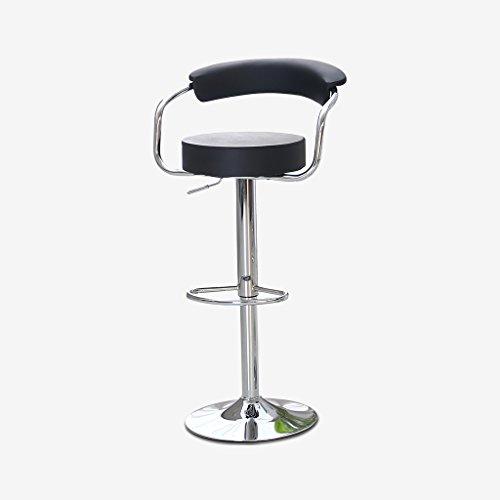 Unbekannt Guo Shop- Im europäischen Stil Barhocker, Lift Kunstleder Polster Bar Hochstuhl kreative Retro Höhe 63-83cm Guter Stuhl (Farbe : Schwarz)