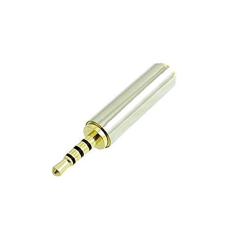 Anices Audio 2,5 mm mâle vers jack 3,5 mm femelle auxiliaire stéréo microphone TRRS adaptateur