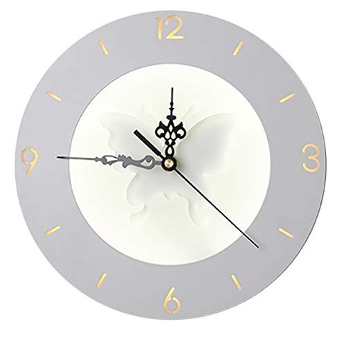 Wapiti – Applique da parete con orologio creativo, minimalista, moderno, LED innovazione, in acrilico, decorazione tv