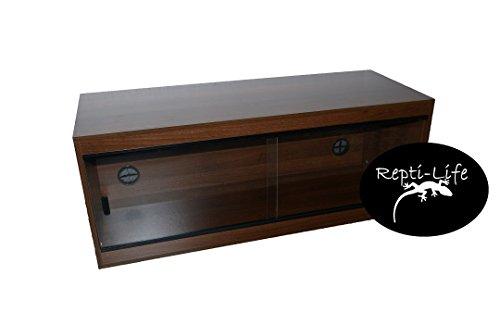 Repti-Life 48x18x18 Inch Vivarium Flatpacked In Walnut, 4ft Viv 1