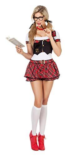 Kostüm Sexy Schülerin Karneval Schulmädchen Damenkostüm 40 ()