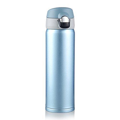HGDGears Isolierter Reisebecher (500 ml), Wasserflasche Trinkflasche Thermoskanne Thermobecher Edelstahl,Tee Kaffee Becher (Rosa) -