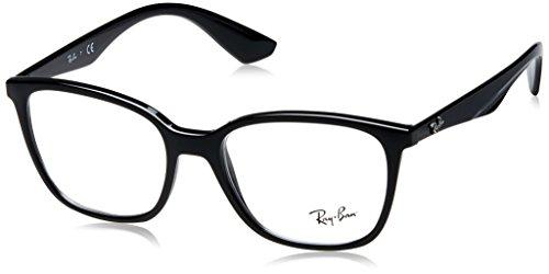 Preisvergleich Produktbild Ray-Ban Herren Brillengestell 0rx 7066 2000 52, Schwarz (Shiny Black)