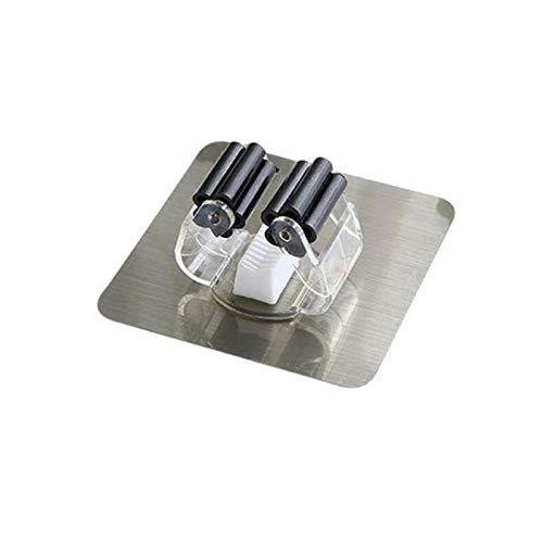 ZJDD Besen Dual Racks Wandmontage Mopp Lenkerhalter Rack Space Saver Pinsel Besen Organizer Aufhänger Haken Wasserdicht Küche Bad Bathroom B -