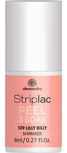 alessandro Striplac Peel or Soak Lilly Billy - LED-Nagellack in frischem Apricot - Für perfekte Nägel in 15 Minuten - 1 x 8ml