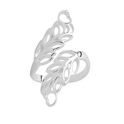 Damenring 925 Silber Natur Blume Herz Ring Verstellbar 16mm bis 19mm