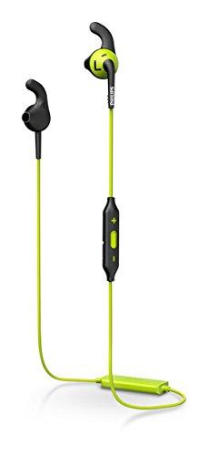 Philips SHQ6500CL ActionFit Bluetooth In-Ear Sportkopfhörer mit Mikrofon (Earbuds, Rutschfeste Gummikappen, integrierte Ferbedienung) grün/schwarz (Bluetooth-kopfhörer Grün)