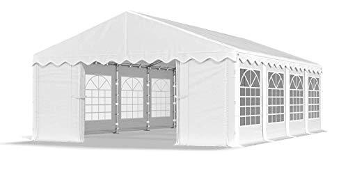 Das Company Partyzelt 5x8m wasserdicht weiß Zelt 240g/m² PE Plane hochwertig Gartenzelt Summer PE