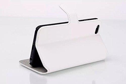 iPhone Case Cover Nouveau style coréen de couleur solide portefeuille Flip étui en cuir couvercle avec support / slot pour carte pour iPhone 6 6s ( Color : Green , Size : IPhone 6 6s ) White