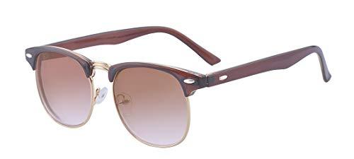 ALWAYSUV Halb Schwarz Rahmen Kurzsichtig Sonnenbrille Kurzsichtigkeit Myopia Brillen -2.5