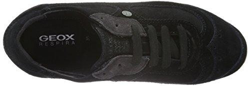 Basket, couleur Noir , marque GEOX, modèle Basket GEOX D MYRIA A Noir Noir