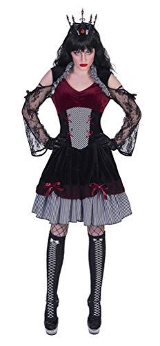 Karneval-Klamotten Dracula Kostüm Damen Bordeaux schwarz Gräfin Dracula Halloween Damen-Kostüm Größe 44/46