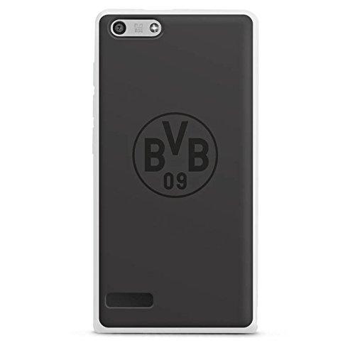 DeinDesign Huawei Ascend P7 Mini Hülle Silikon Case Schutz Cover Borussia Dortm& BVB Logo grau