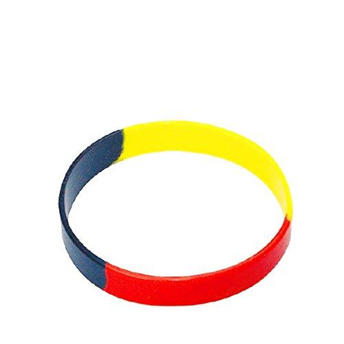 Colour-Bags Home & Living Fan-Armband aus Silikon WM 2018, 1 Stück, Größe ca. 6,5 x 1,2 cm,...