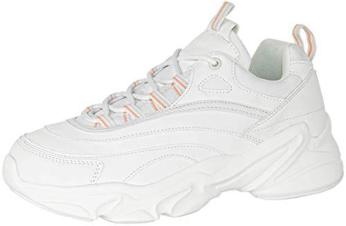 Beppi Damen Sneaker Weiss - Bequeme Mädchen Plateau Schuhe Weiß Gr. 41