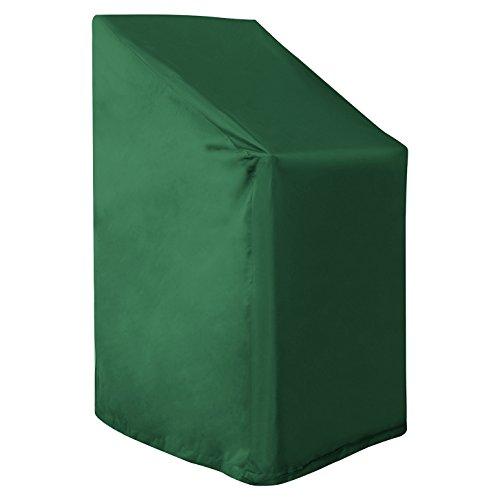 WOLTU GZ1198gn Housse de Protection pour Chaise de Jardin,Housse de Protection mobilier de Jardin Imperméable résistante aux déchirures 68x96x110 / 150 cm, Vert