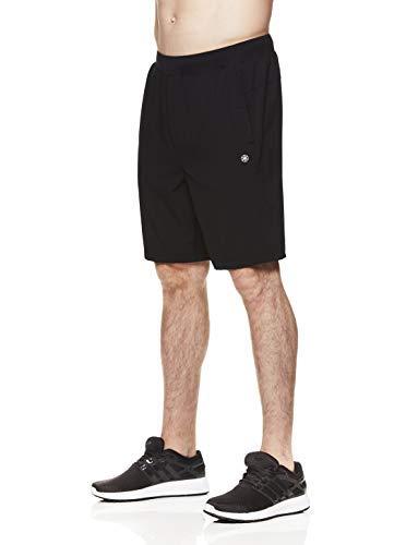 Gaiam Herren Yoga Shorts - Performance Heather Gym & Workout Short mit Taschen - Schwarz - Mittel - Tragen Sie Camo Shorts