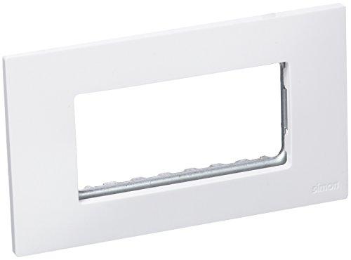 Simon 2700614-030 - Placa Americana Blanca 4 Mód. Estrechos