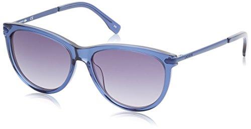 Lacoste cat eye, occhiali da sole donna, blu, 56