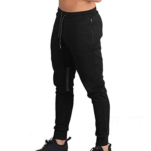 ee38c7f018543 Naudamp Hombres Slim Gym Joggers Pantalones de chándal Chándal Correr  Entrenamiento Ropa Deportiva Partes de Abajo Bolsillos con Cremallera ...