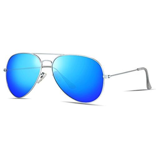 ATTCL Unisex Classic Aviator Driving Polarisiert Sonnenbrille 3026-Blue