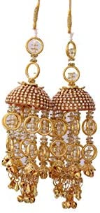 Geetanjali Handmade Traditional Kalira/kalere/kaleera/Bridal Hand Hanging Kalira Set of 2(Pair) for Brides, Wo