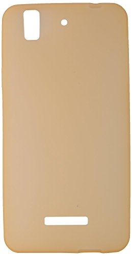 GoRogue Frosted Glowing Ultra Slim Soft Flexible TPU Back Case Cover For Micromax YU Yureka AQ5510 (Gold)  available at amazon for Rs.149