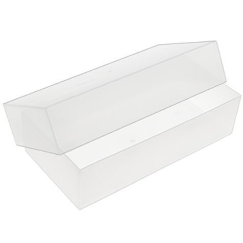 5x Trifold plástico transparente cajas de almacenaje–envío gratuito.