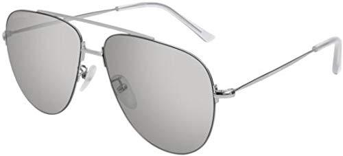 Balenciaga Sonnenbrillen BB0013S Silver/Silver Unisex