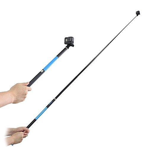 TELESIN 2,7m Ultra Lang Selfie Stick leicht High Tenacity Kohlefaser Einbeinstativ für GoPro 6543321Session Digitalkamera & die meisten der Digitalkamera Samsung S5 Kamera Remote