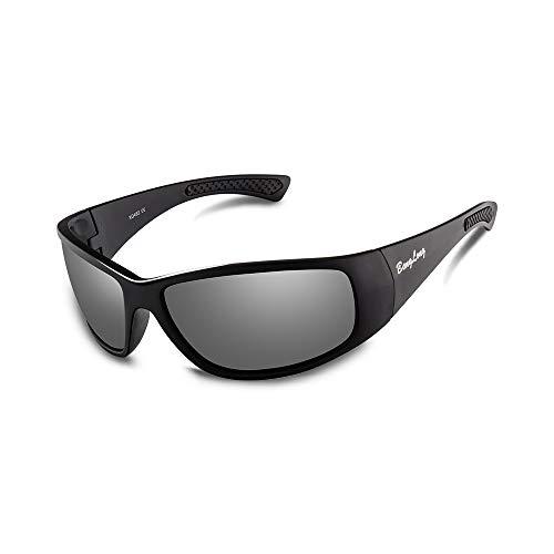 BangLong Polarisierte Sonnenbrille Sportbrille Fahrradbrille Herren Damen, Fahrerbrille für Outdooraktivitäten wie Radfahren Laufen Klettern Autofahren Angeln Golf