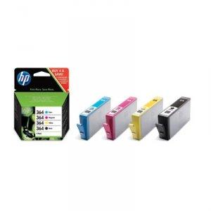 HP 364 Combo Pack Cartuccia d'Inchiostro, Nero/Giallo/Cyan/Magenta, Confezione da 4