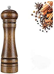 Wood Pepper Grinder Mill and Salt Grinder and Salt Shaker- Manual Wooden Salt Grinder Pepper Mill Shakers Refi