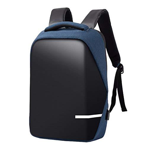 emium Diebstahlsicherung Laptop Schule Reisen Wasserdicht Rucksack mit USB Anschluss (Blau) ()