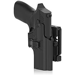efluky Sig Sauer Holster Ceinture Airsoft Pistolet Defense Gun Holster for Sig Sauer P320, Belt Clip 360° Réglable