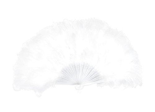 Boland Culto 00648 - abanico de plumas, ca. 25 cm, blancos