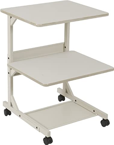 Dual Laser Printer Stand, 3-Shelf, 24w x 24d x 33h,