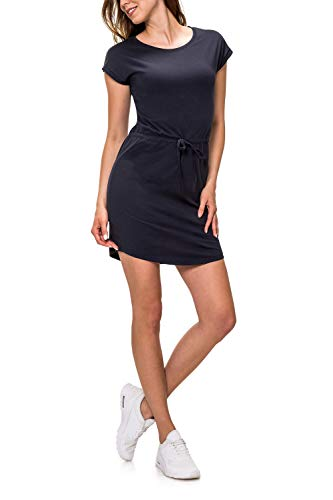 ONLY Damen Jerseykleid Freizeitkleid Sommerkleid Shirtkleid Print (L, Night Sky/Solid) (Solid-jersey-kleid)