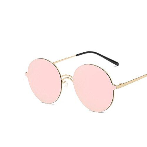 luyee ligero Retro redondo gafas de sol negro rosa