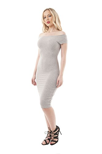 Khanomak Damen Kleid Grau Meliert