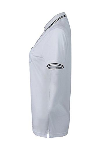 JAMES & NICHOLSON Donna Polo funzionale dalla vestibilita eccellente White/Black