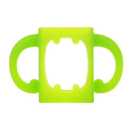 Flaschengriffe Universal Soft Silikon Weithalsgriff Hitzebeständige Saugflaschen Zubehör-Grün