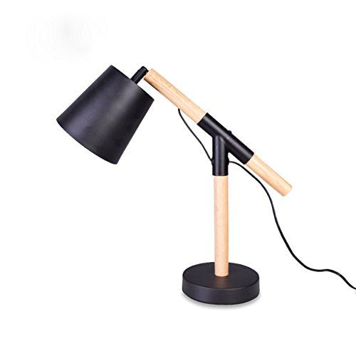 Best wishes shop tischleuchte- Flexible Einstellbare Schreibtischlampe Arbeitszimmer Nacht Lesebrille Nordische Kreative Moderne Einfache Dekorative Lampe E27 (Farbe : Schwarz)