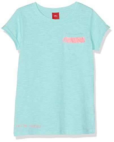 s.Oliver Mädchen 53.904.32.5634 T-Shirt, Türkis (Mint 6117), 116 (Herstellergröße: 116/122/REG) -